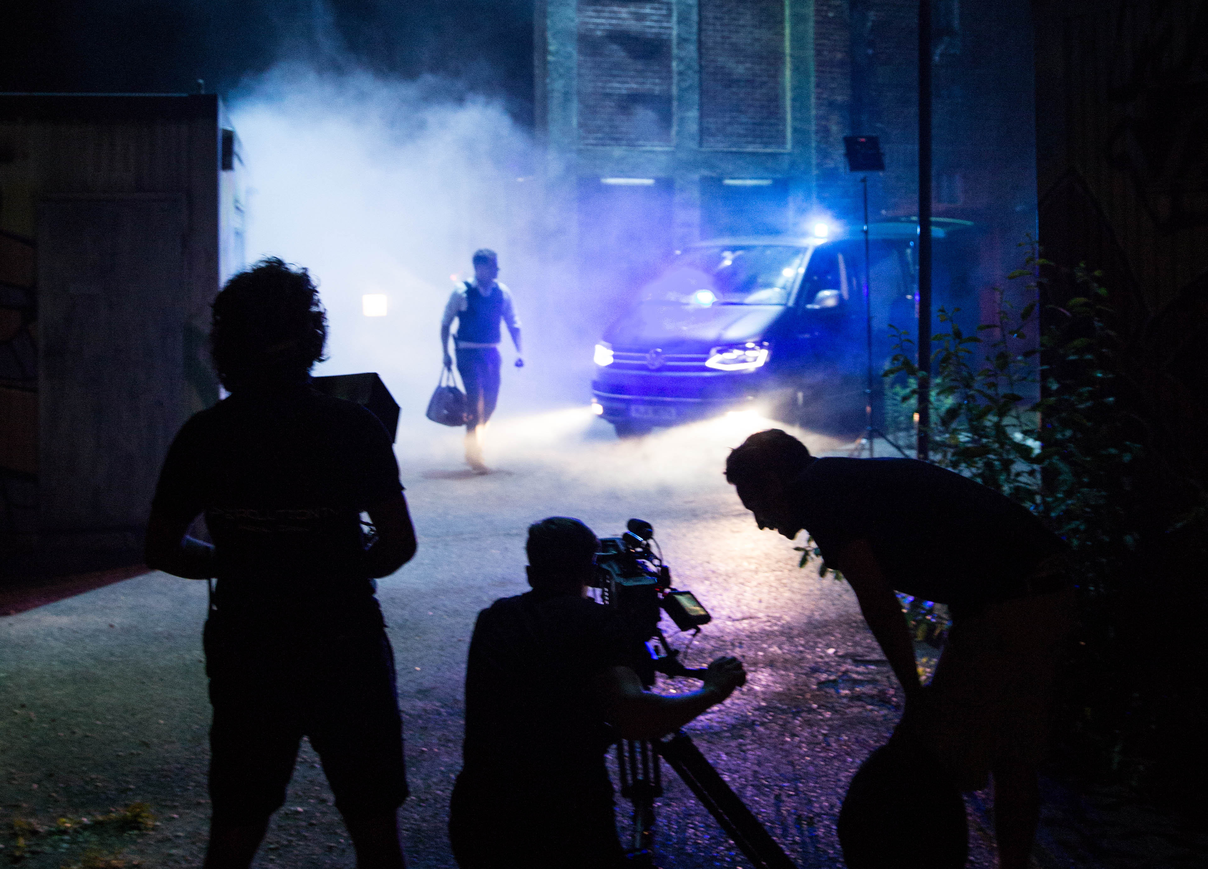 Making of LED drohne setlife tv crew lied hexacopter moving lights munich bavaria aerial drone pilot munich germany