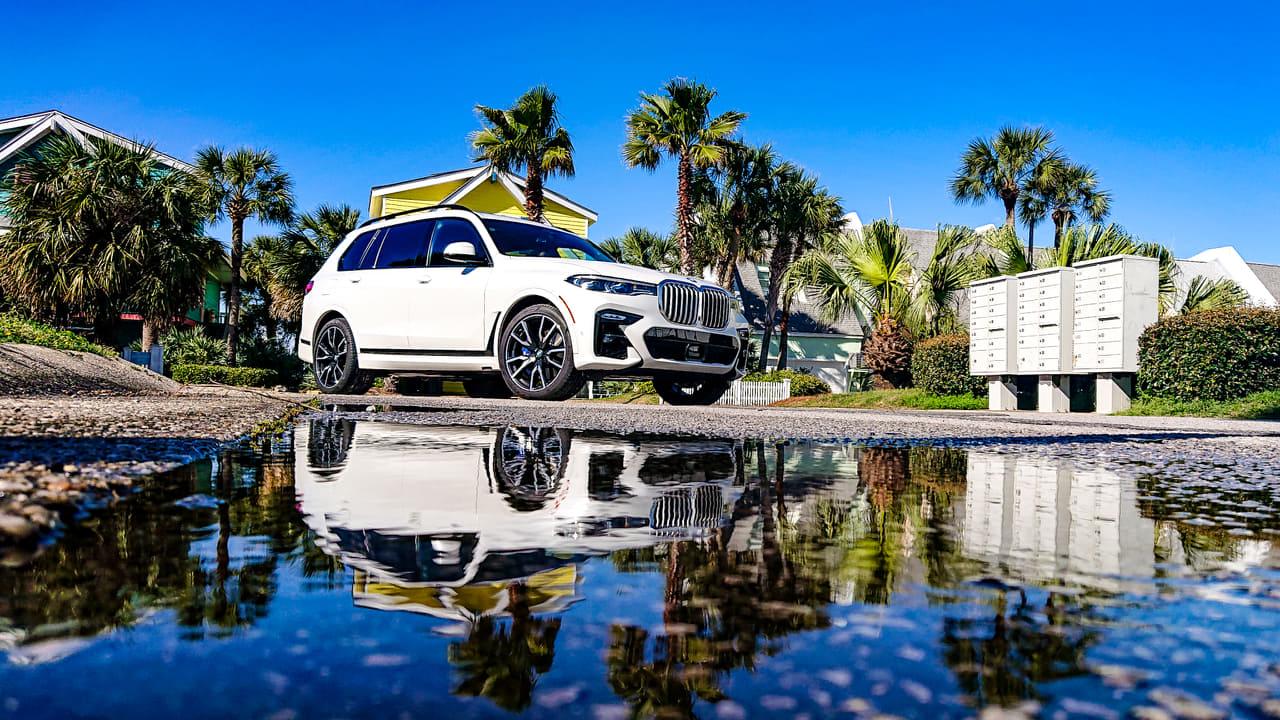 drohnenteam münchen aerolutiontv profi drohnenpilot BMW X7 usa media launch